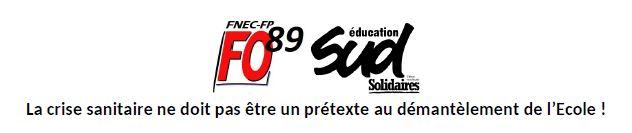 APPEL AU 16 JUIN – FNEC-FP FO 89 / SUD Education 89